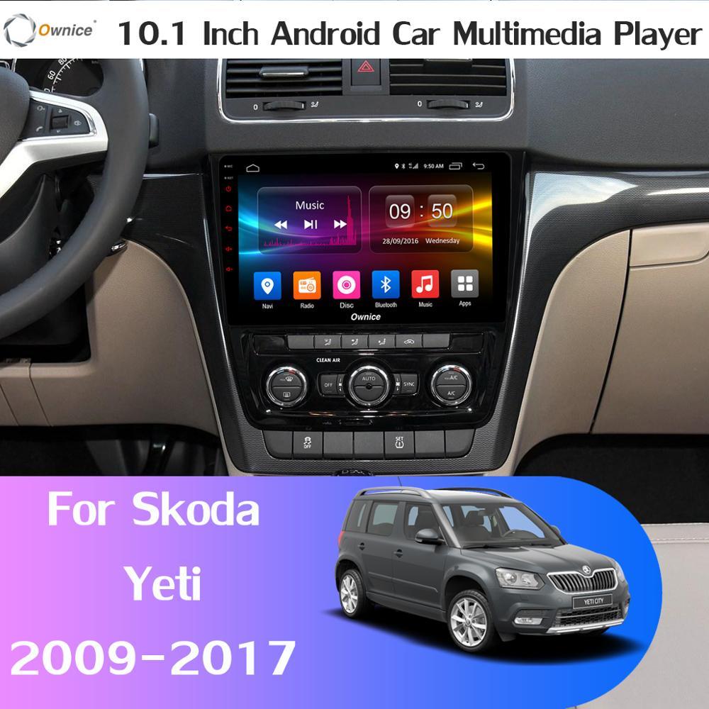 Cámara AHD DVR de 360 ° × 4G LTE, 4G + 64G, Android 9,0 DSP, reproductor Multimedia de Radio GPS Navi para coche Skoda Yeti 2009-2017