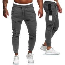Dei nuovi Uomini di Pantaloni per lo Sport pantaloni Della Tuta Mens Slim Fit Tuta Palestra Di sport Pantaloni Di sudore Pantaloni Casual pantaloni Lunghi Nero Grigio Rosso