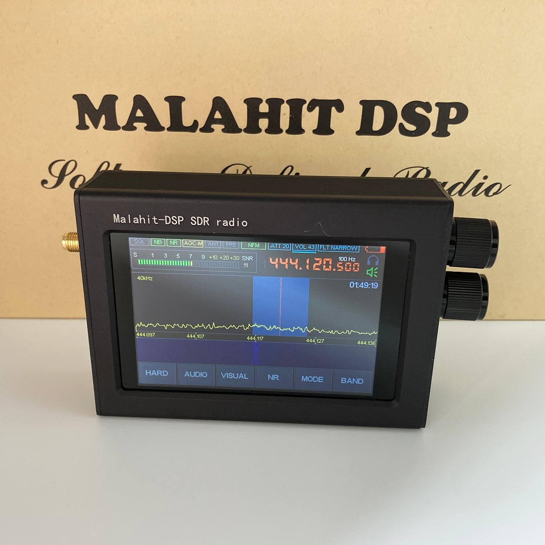 V1.10b 50Khz-2GHz الملكيت SDR راديو مالاهيت DSP SDR استقبال جميع وضع استقبال AM SSB NFM WFM نظائرها تعديل