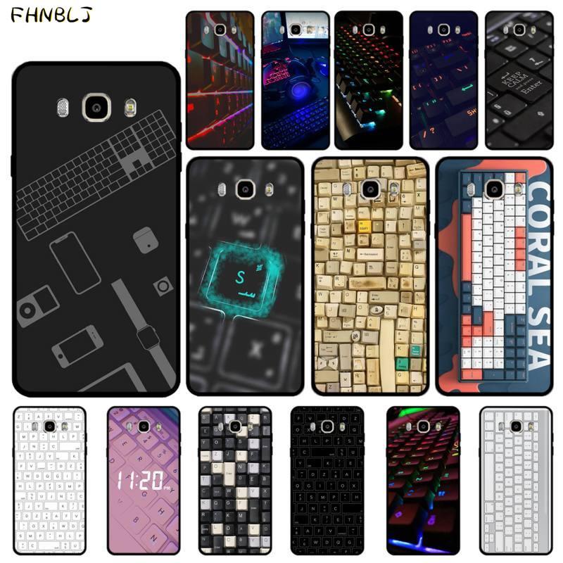 FHNBLJ klawiatura komputerowa DIY luksusowe etui na telefony do Samsung J6 J7 J2 J5 prime J4 J7 J8 2016 2017 2018 DUO core neo