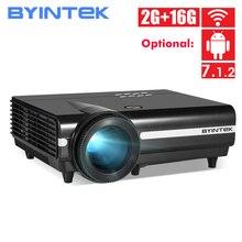 BYINTEK BT96Plus Full HD 1080P projecteur, 600 ANSI lumen, hologramme 200 pouces LED vidéo HD projecteur pour Home cinéma pour Netflix