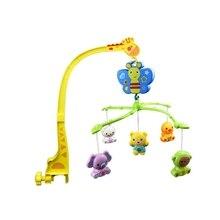 4 in 1 Musical Crib Mobile Bed Bell Kawaii Animal Baby Rattle Rotating Bracket Toys Giraffe Holder Wind-Up Music Box Gift