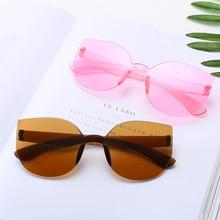 2020 New Cateye Sunglasses Women Men Vintage Glasses Brand Designer For Women Mirror Retro Lunette D