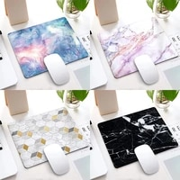 rubber mouse pad 210x260x3mm square marble pattern anti slip laptop pc mice computer pad mat game mousepad