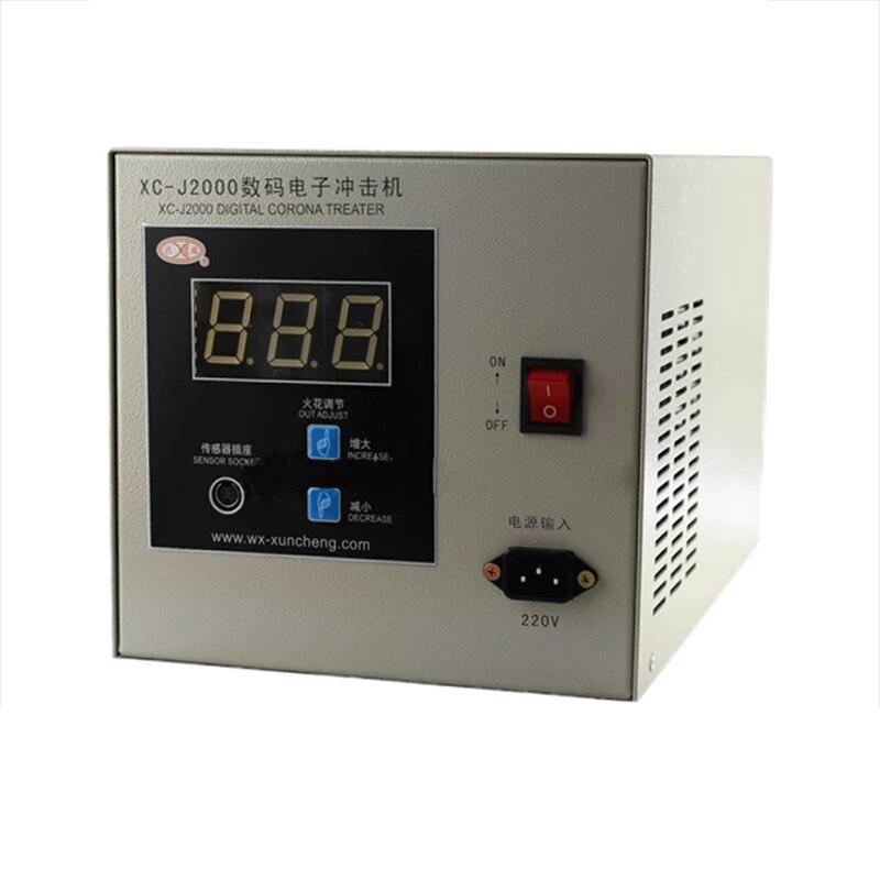 XC-J2000 كورونا آلة المعالجة الإلكترون تأثير 2KW الكهروميكانيكية الهواء فيلم تهب آلة آلة طباعة EDM