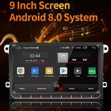 9 pouces 2 Din autoradio multimédia lecteur vidéo universel auto stéréo système Android GPS Navigation hôte intégré pour VW