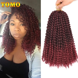 TOMO Passion Twist Crochet Braids Ombre Water Wave Synthetic Braiding Hair  Short Marlybob Crochet Braids Hair Extensions 12inch