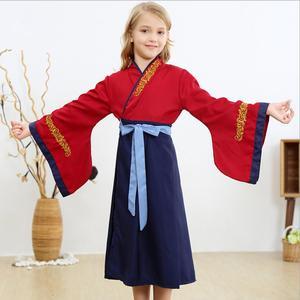 Anime Costume Halloween Mulan Cosplay Dress For Girls Costume Kids Halloween Stage Costumes Chinese Costumes Hanfu Dress