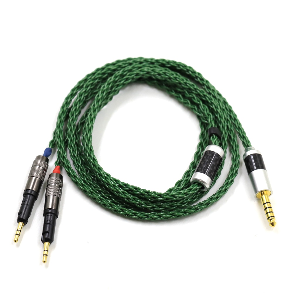Thouliess 4.4mm 2.5mm XLR 6.35mm High Quality Silver Plated R70X Headphone Upgrade Replacement Cable for ATH-R70X R70X R70X5 enlarge