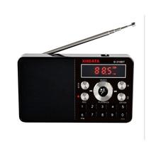 XHDATA D-318 BT FM Stereo Radio Kunststoff Mini Schwarz Multifunktions Tragbare Radio Unterstützung Drahtlose Telefon Anrufe A-B Bluetooth Radio