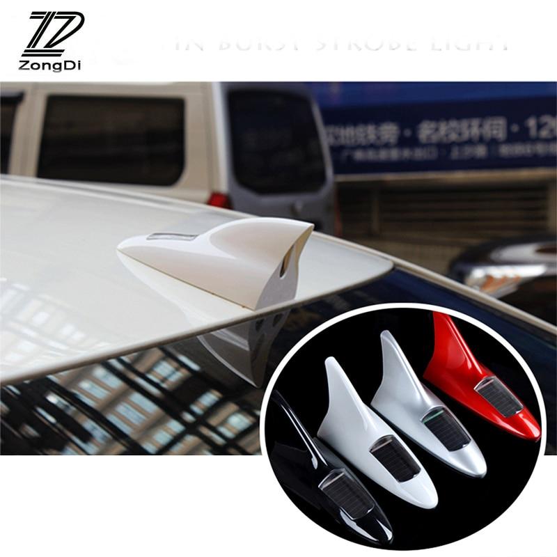 Coche ZD de advertencia LED antena decoración de aleta de tiburón antenas para Alfa Romeo 159 BMW E46 E39 E36 E90 X5 X6 X1 Audi A3 A6 C5 A4 B6 B8