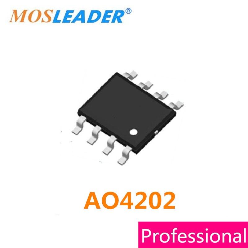Mosleader AO4202 SOP8 100 قطعة 4202 30 فولت N-قناة عالية الجودة