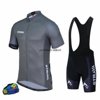 strava 2021 new cycling suit jersey sets for mens short sleeve jersey running cycling clothing breathable with keep bib suit