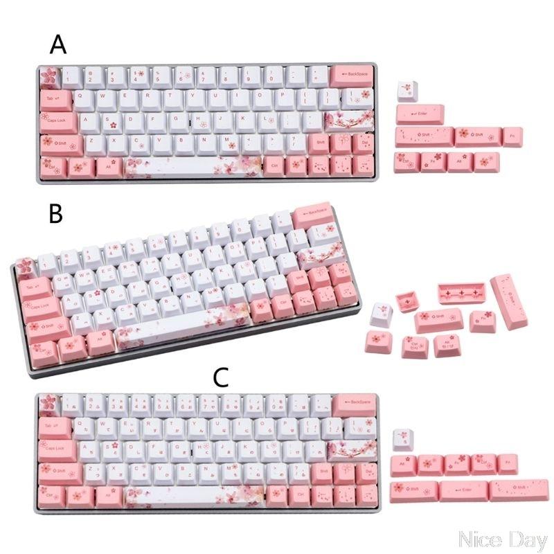 73 teclas OEM PBT Keycaps Dye-Sublimation Cherry Set completo Teclado mecánico para GK64 GH60 PK61 ALT61 DZ60 inglés KR JP Ju03 20