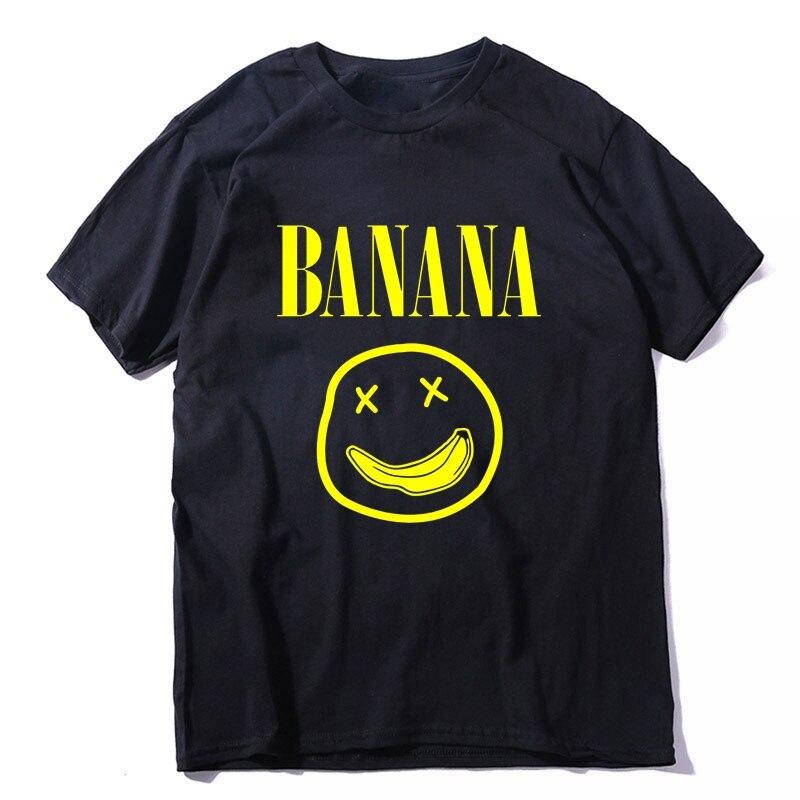 COOLMIND 100% baumwolle kurzarm banana lustige männer T shirt beiläufige lose oansatz lächeln männer t-shirt oansatz t-shirt männer t shirts