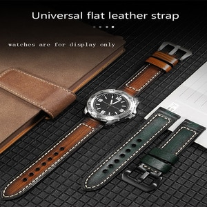 Retro Genuine Leather Strap Replacement Panerai Tudor 22mm 24mm 26mm Red Purple Blue Handmade Cow Leather Watchband