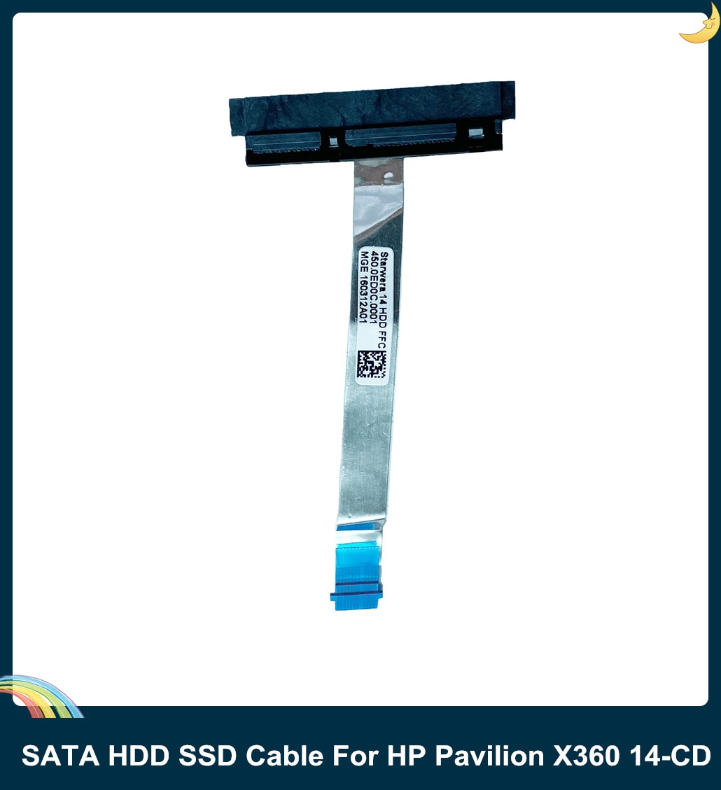 LSC nuevo disco duro SATA HDD SSD Cable para HP PAVILIAN X360 14-DH 14-CD CABLE 450.0ed0c 0001 L18218-001