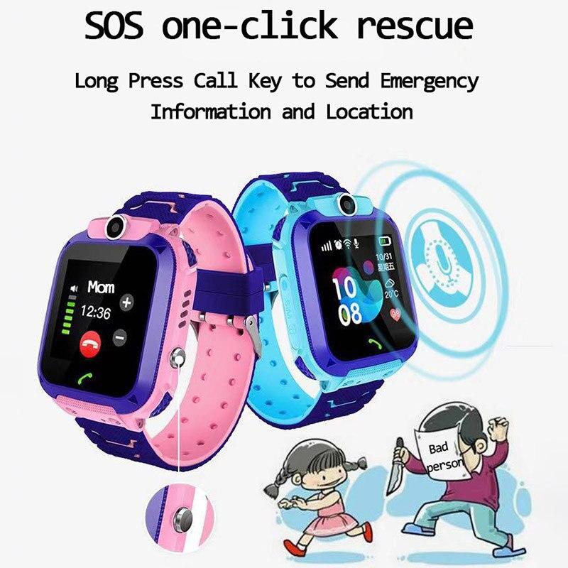 Q12 Children's Smart Watch SOS Phone Watch Smartwatch For Kids With Sim Card Photo Waterproof IP67 K