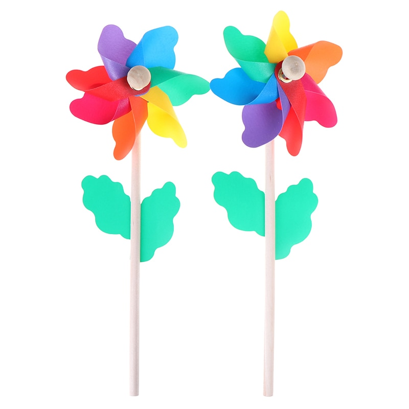 New Fashion Windmill Colorful Wood Wind Spinner Ornament Garden Yard Party Decoration Kids Toys Christmas Gift
