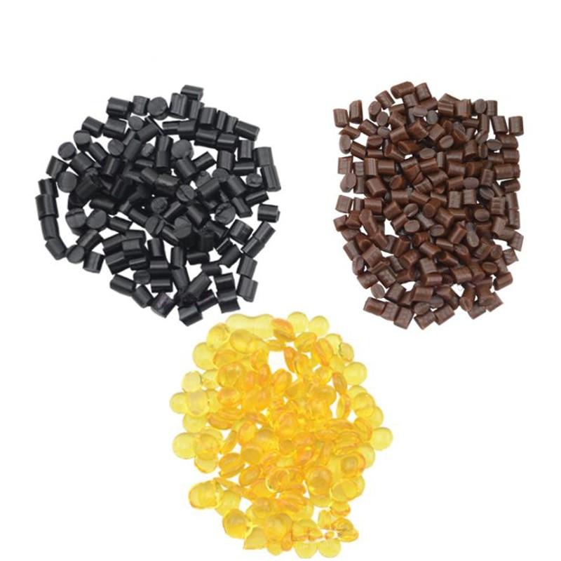 100g de grano de cola queratina italiana Extra fuerte genuina para extensiones de cabello adherencia transparente/Negro/marrón/amarillo