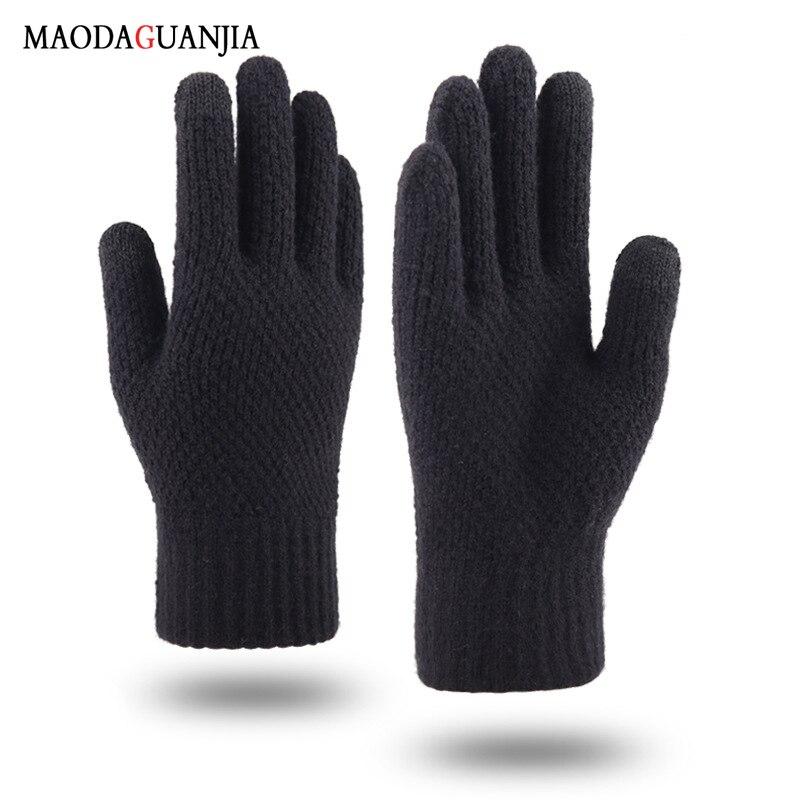 Guantes de invierno para pantalla táctil para mujer y hombre, calentadores tejidos...