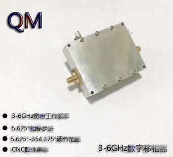RF Phase Shifter Digital RF Phase Shifter C-band Microwave Phase Shifter 3-6GHz Digital Phase Shifter