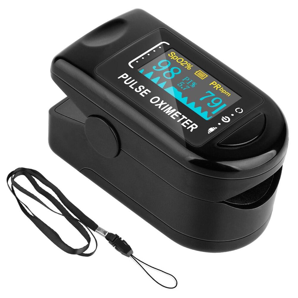 Finger Oximeter Household Health Monitors Fingertip Pulse Oximeter Heart Rate Monitor Blood Pressure Oximetry Blood Oximeter
