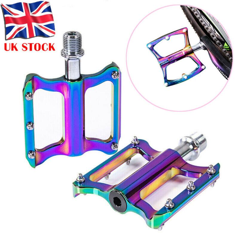 1 par de pedales antideslizantes de aleación de 9/16 pulgadas para bicicleta de montaña BMX MTB con plataforma plana