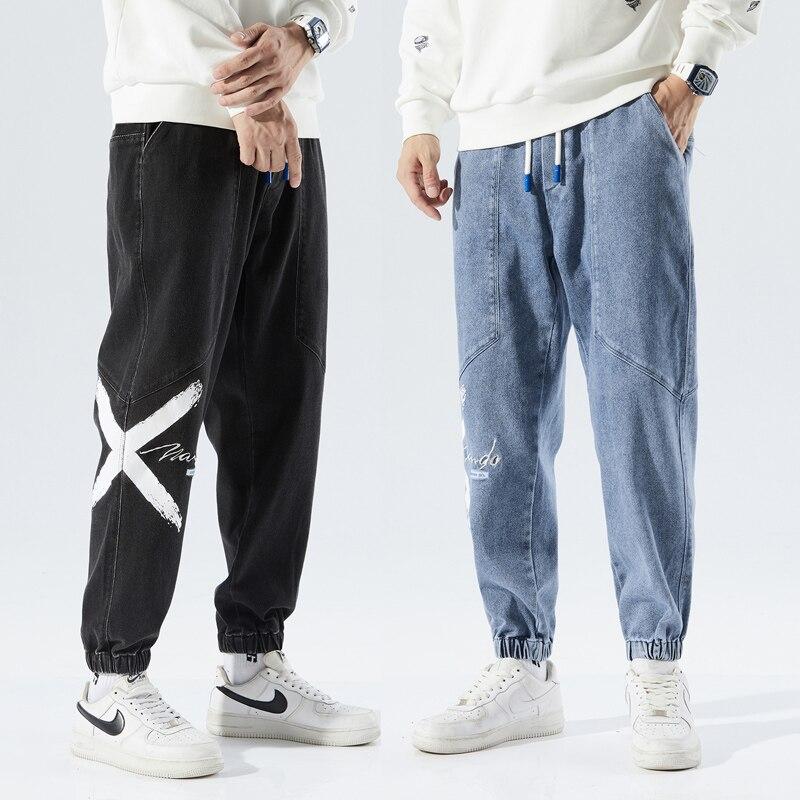 Теплые флисовые джинсовые брюки для мужчин, новинка зимы 2021, повседневная уютная универсальная ковбойская уличная одежда, уличная одежда в ...