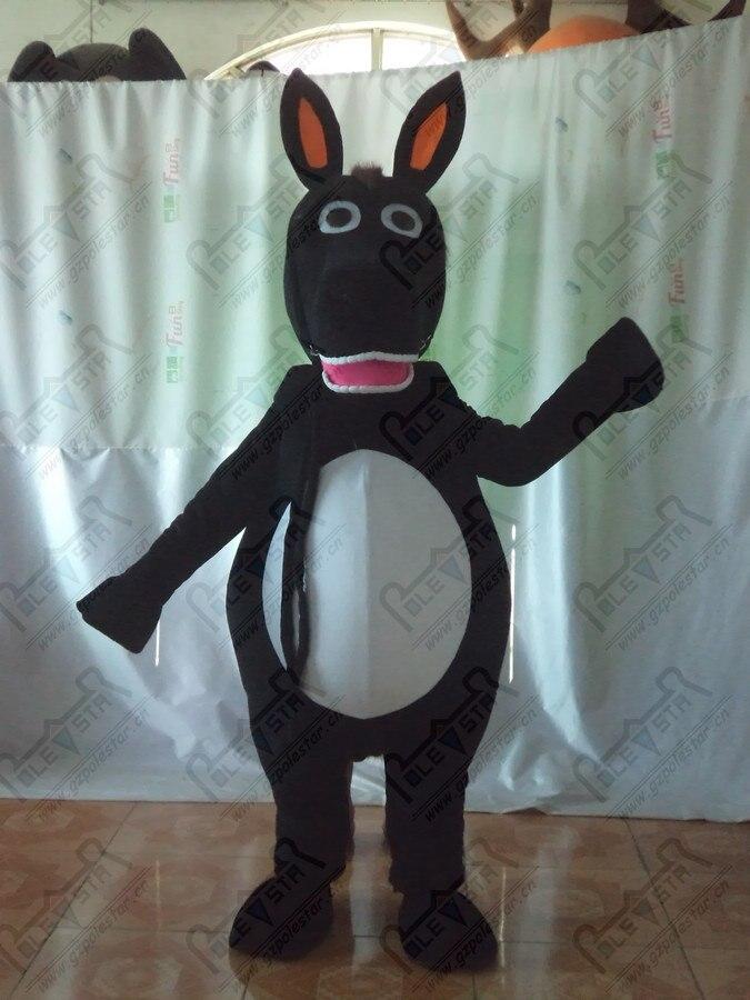 Disfraces de burro mascota negro disfraces de caballo de animales de carácter