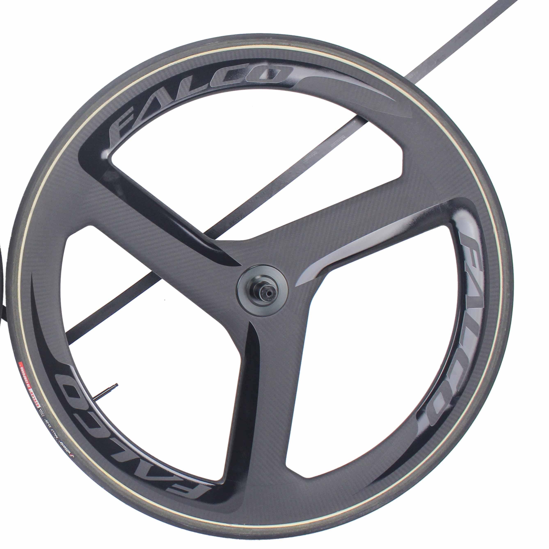 Falco trispoke rodas de carbono triathlon disco de carbono tempo trial tricoke rodas tubulares