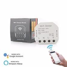Interrupteur de gradage de lumière LED WiFi, bricolage interrupteur de vie intelligent/Tuya APP télécommande 1/2 interrupteur de mode avec Alexa de Google