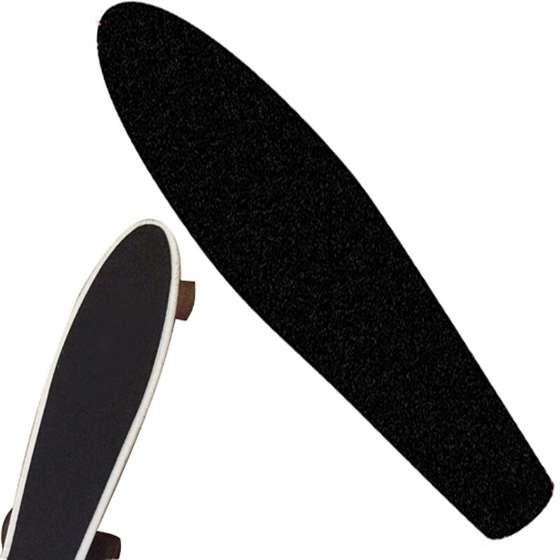 Pegatina para patineta profesional, papel de lija de balancín, sólido/impreso, antideslizante, impermeable