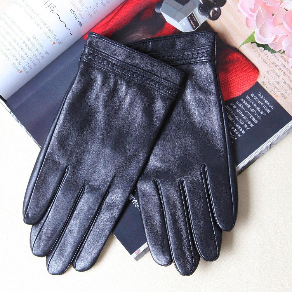 Кожаные перчатки мужские зимние перчатки с плюшевой подкладкой утолщенные перчатки из овчины перчатки мужские термоперчатки из натуральн...