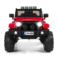 12v electric kids ride on car toy truck wmp3 led lights bluetooth control gifts