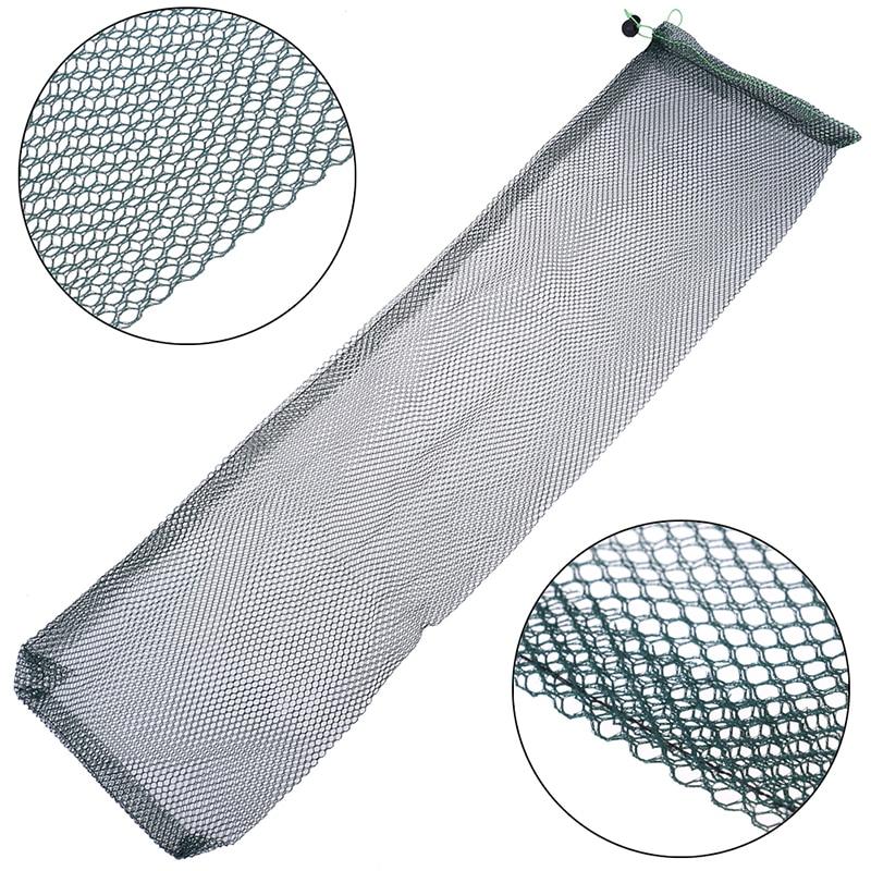 1Pc 75 X 20cm Carp Bag Fish Keeper Net Emergency Fishing Unhooking Mat Small Fishing Tackle Tool Easy carry nylon fish guard net