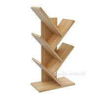 Simple modern space space bookshelf simple table student bookcase floor multi layer creative rack tree