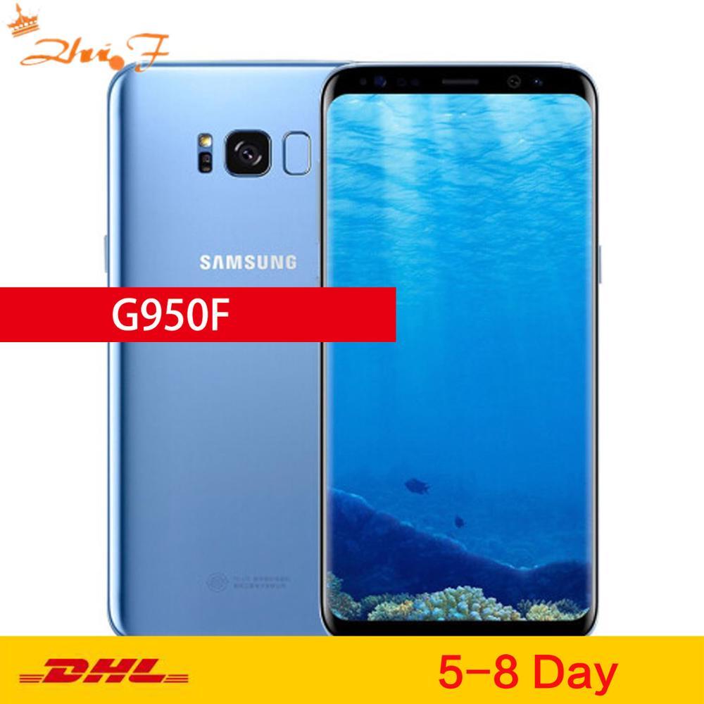 Оригинальный мобильный телефон Samsung Galaxy S8, глобальная версия, LTE GSM G950F, Восьмиядерный, экран 5,8 дюйма, 12 Мп, 4 Гб ОЗУ 64 Гб ПЗУ, Exynos NFC