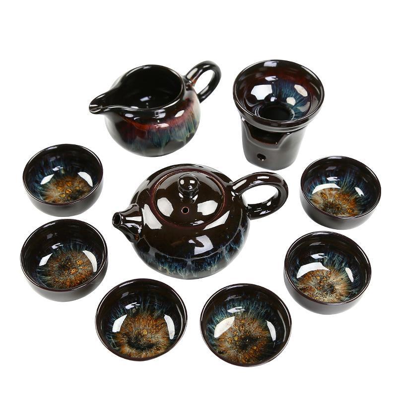 السيراميك السفر الشاي وعاء الكونغ فو مجموعة الخزف فنجان شاي ل Puer شاي الألونج الصين إبريق الشاي القهوة القدح ماستر كأس الصينية هدية