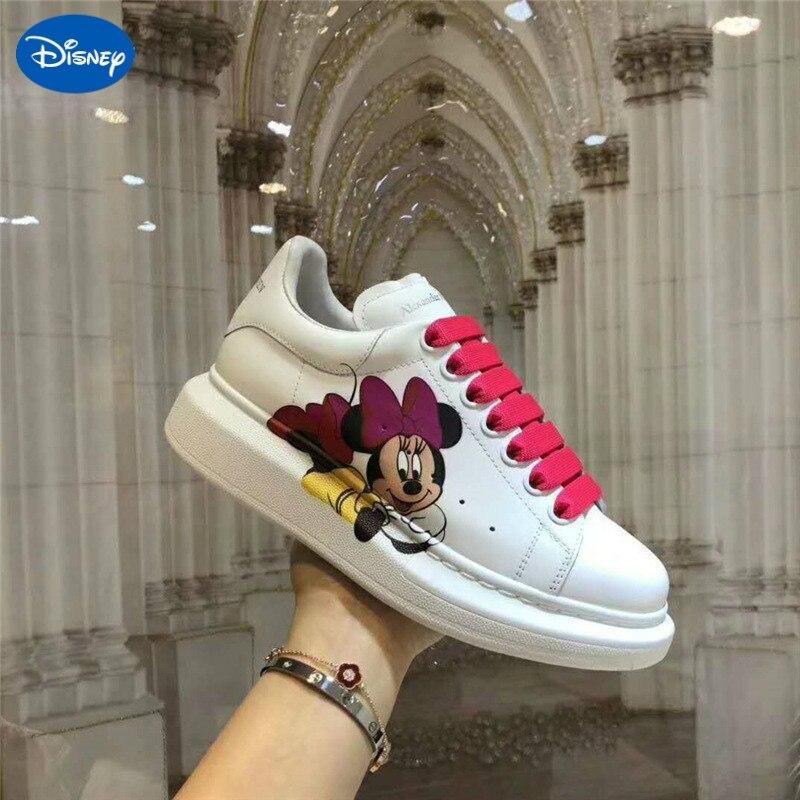 حذاء داخلي سميك سوليد ميكي وميني لربيع وصيف 2020 ، حذاء كاجوال للأزواج من ديزني