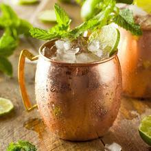 Mug en cuivre de 530ml, 4 pièces, Mule de moscou, verre à Cocktail, créatif, en acier inoxydable, tasse de 18Oz, pour bière glacée, thé, whisky