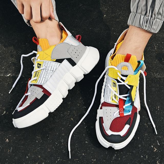 Autumn Fashion Colourful Men's Luxury Sneakers Trending Men Casual Shoes Hot Sale Breathable Chunky Shoes Men Zapatillas Hombre 10