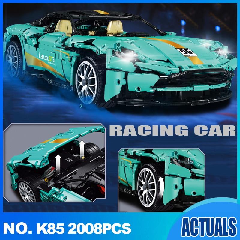 2021 2008 шт. Супер спортивный гоночный автомобиль Транспортное средство конструкторных блоков, Детские кубики, игрушки для детей мальчиков и д...