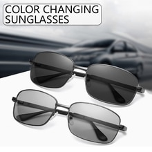 Men Photochromic Sunglasses Polarized Driving Chameleon Glasses Male Change Color Sun Glasses Day Ou