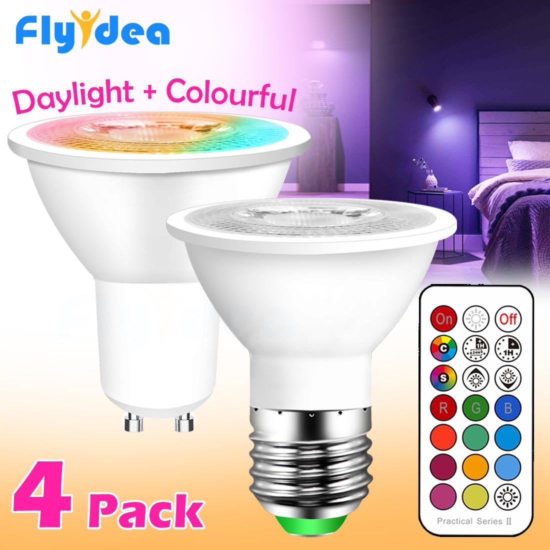 GU10 Светодиодная лампа E27 умный светильник лампа цветной Точечный светильник неоновая вывеска RGB лента с контроллером светильник Светильник ing COB220V затемняемый ночной Светильник