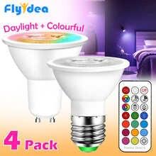 GU10 LED Lamp E27 Smart Light Bulb Color Spotlight Neon Sign RGB tape With Controller LightLighting COB220V Dimmable Night Light