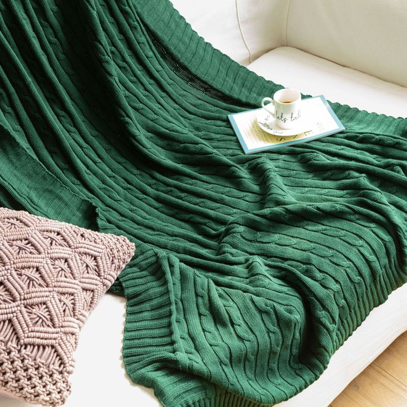100% de algodón de alta calidad, manta de punto cálido para invierno, manta para sofá cama, colcha, manta para oficina y aire acondicionado