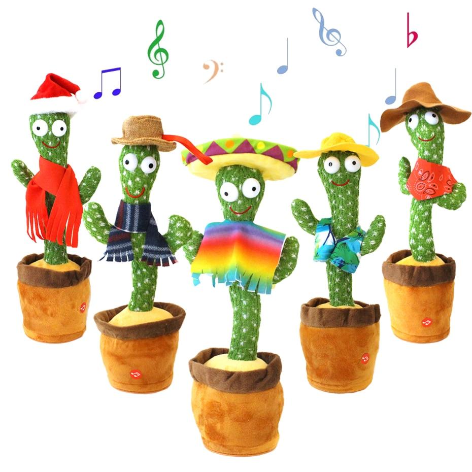 Cactus Toy ,Electric Dancing Cactus ,Cactus jack ,Cactus talking Toy,Home Office Decoration, Plant Cactus Plush Stuffed Toy