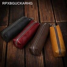 Genuine Cow Leather Men Women Key Bag Small Business Kay Case Women Housekeepers Wholesale purse key