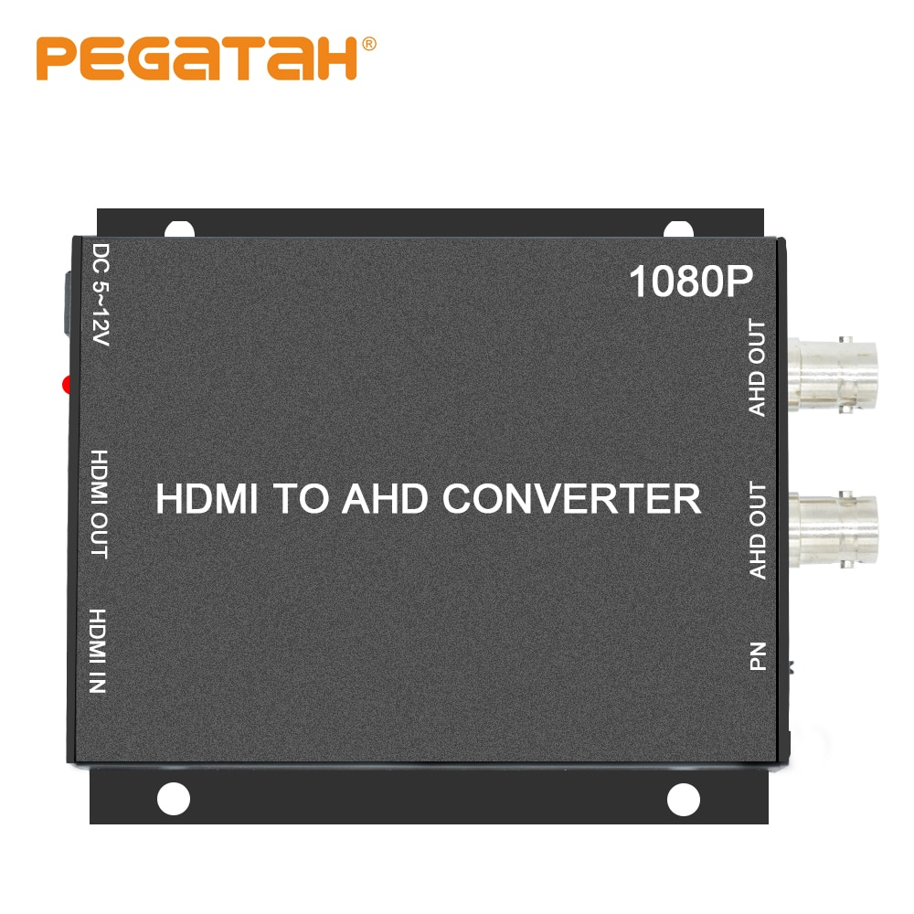 New 1080P HDMI to AHD video signal Mini video Converter Adapter HDMI loop with 2CH AHD output Converter CCTV security system enlarge